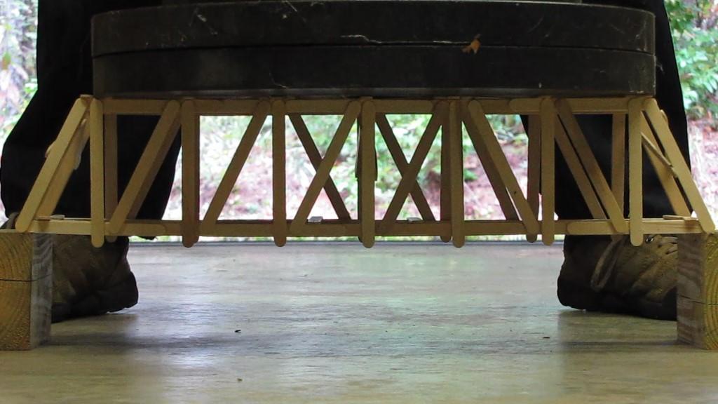 100 Stick Popsicle Bridge: 21″ Howe Truss | Garrett's Bridges on cable-stayed bridge design, i beam bridge design, cantilever bridge design, deck arch bridge, deck beam design, arch bridge design, interstate bridge design, steel bridge design, baltimore bridge design, deck of a bridge, bowstring bridge design, pony bridge design, deck with bridge, blueprint toothpick bridge design, trestle bridge design, best bridge design, pratt bridge design, balsa wood bridge strongest design, railroad bridge design, girder bridge design,