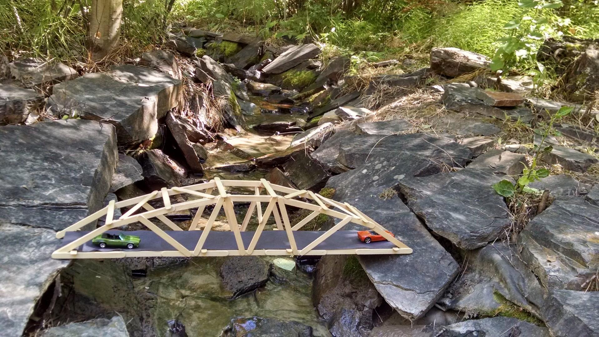 25 Arched Warren Popsicle Stick Bridge Garretts Bridges Truss Diagram The First Was Probably A Design Constraints