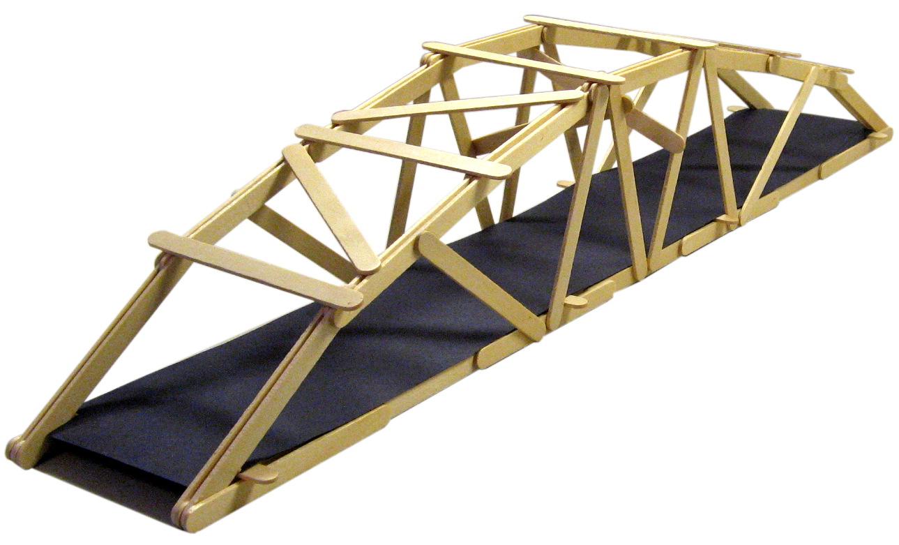25 arched warren popsicle stick bridge garrett 39 s bridges for Bridge design