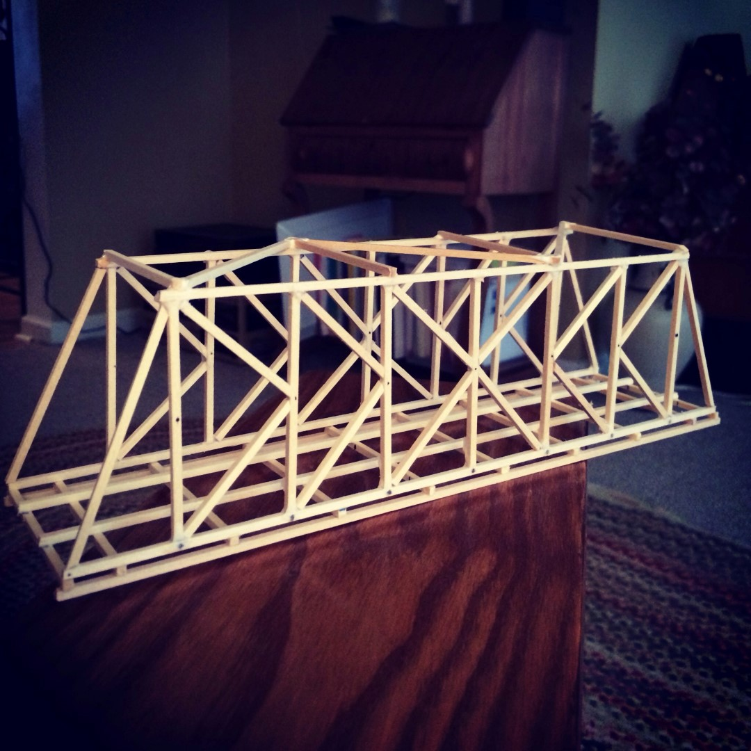 Classic K Truss Bridge Design Balsa Wood Garretts Bridges