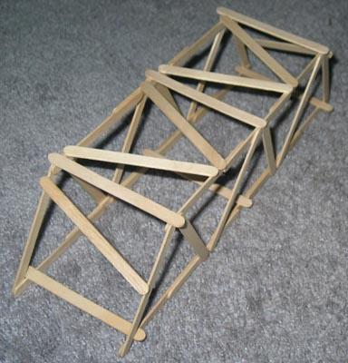 Short Warren Truss Popsicle Bridge Garretts Bridges