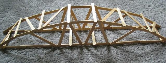 how to build beam bridge with popsicle sticks