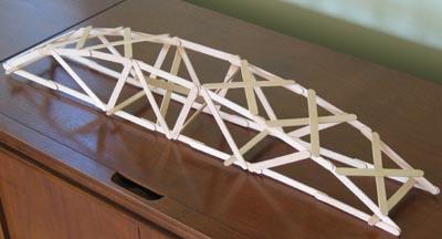 popsicle stick arch bridge instructions