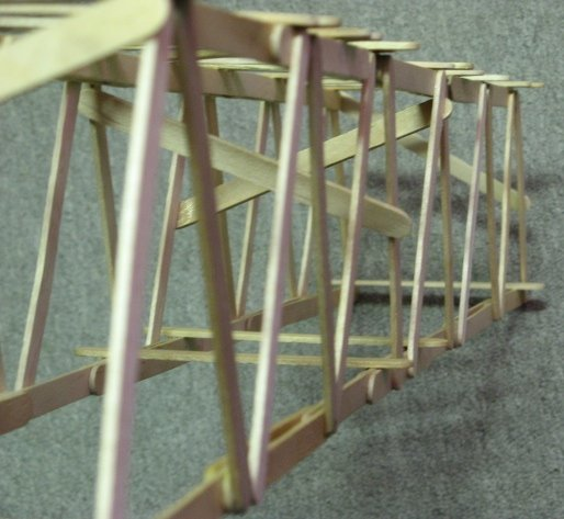 how to build a truss bridge with popsicle sticks